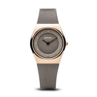 Bering - Ladies Classic, Rose Gold Plated Milanese Watch - 11927-369