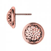 Links of London - Timeless, Sterling Silver and 18ct Rose Gold Vermeil Domed Stud Earrings