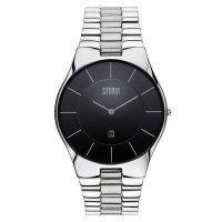 Storm - Men's, Slim-X XL, Stainless Steel Black Dial Watch