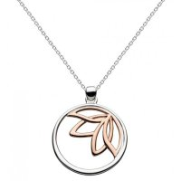 Kit Heath - Dro Blossom Lotus, Sterling Silver With Rose Gold Plating Necklace, Size 18""