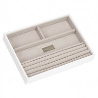 Stackers - White Classic, 4 Section Stacker Jewellery Box