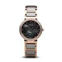 Bering - Ladies Ceramic, Stainless Steel With Ceramic and Rose Gold Plated Strap Watch
