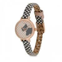 Radley - Love , Rose Gold Plate Leather Strap Watch