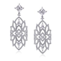 Carat London - Willa, Cubic Zirconia Set, Sterling Silver Drop Earrings