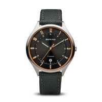 Bering - Men's Titanium Velcro Strap Watch