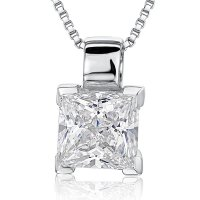 Jools - Cubic Zirconia Set, Silver Necklace