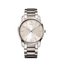 Calvin Klein - Men's City, Stainless Steel Silver Dial Watch, Size 43mm