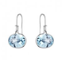 Georg Jensen - Savannah, Blue Topaz Set, Silver Earring