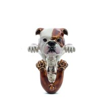 Dog Fever - English Bulldog - Dog Ring in Sterling Silver and Enamel