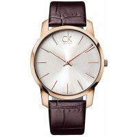 Calvin Klein - Men's City, Rose Gold Plated Rose Gold Dial Watch