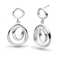 Kit Heath - Silver Coast Shore Drop Earrings