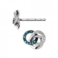 Links of London - Diamond Set, Silver Earrings