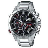 Casio - Edifice, Stainless Steel Bluetooth with Smart Phone Link, Solar Powered Watch