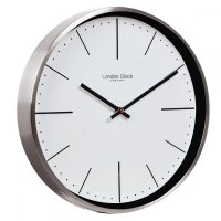 London Clock - Bailey Chrome Wall Clock