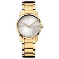 Calvin Klein - Ladies' City , Yellow Gold Plated Silver Dial Watch