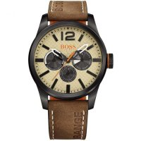 Hugo Boss - Orange Men's Paris Chronograph, Stainless Steel and Leather Watch