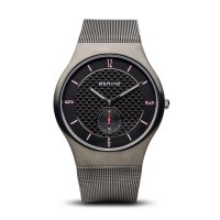 Bering - Men's Classic Collection, Stainless Steel Black Watch