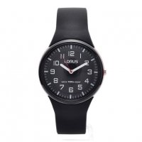 Lorus - Kids, Black Silicone Strap Watch