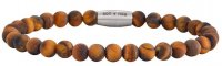 Son of Noa - Yellow Tiger Eye Set, Stainless Steel/Tungsten - Bead Bracelet, Size 21cm
