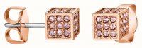 Calvin Klein - Swarovski Crystals Set, Stainless Steel - Rose Gold Plated - Stud Earrings