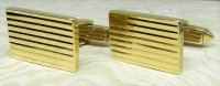Antique Guest and Philips - Yellow Gold Rectangular fluted Cufflinks