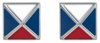 Tommy Hilfiger - Stainless Steel/Tungsten Patterned Stud Earrings