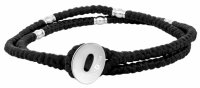 Son of Noa - Fabric - Stainless Steel/Tungsten - Cord Bracelet, Size 41cm