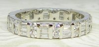 Antique Guest and Philips - White Gold and Diamond - Full Eternity Ring