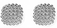Fope - Luci, White Gold 18ct White Gold Braided Stud Earrings