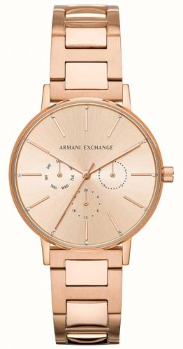 Armani Exchange - Lola, Rose Gold Plated Watch