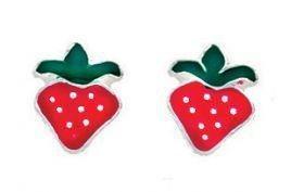 Gecko - Beginnings, Silver Strawberry Earrings
