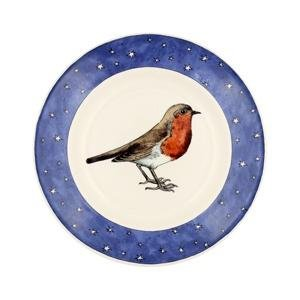 Emma Bridgewater - Robin in a Starry Night, Pottery Plate, Size 8 1/2