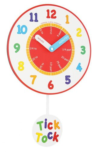 London Clock - Tell The Time Pendulum Childrens Wall Clock
