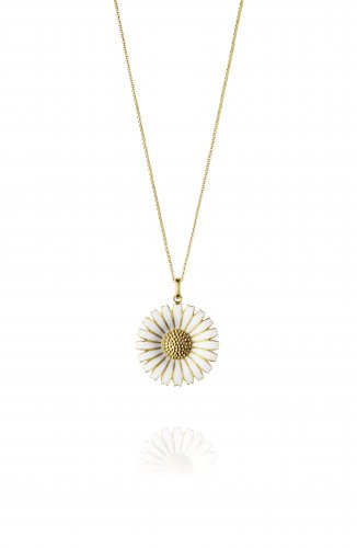 Georg Jensen - Daisy, Silver/Gold Plate Pendant, Size 33mm