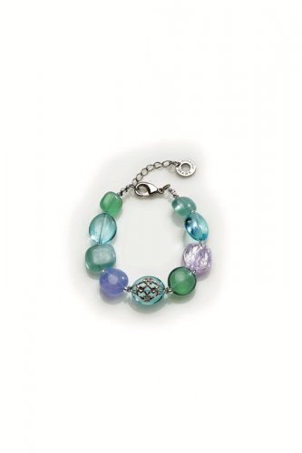 Antica Murrina - Florinda, Murano Glass Set, Stainless Steel Bracelet