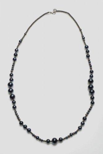 Antica Murrina - Neredie, Murano Glass Set, Stainless Steel Black/Blue Bead Necklace