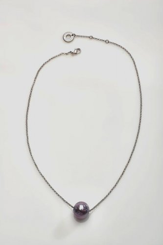 Antica Murrina - Neredie, Murano Glass Set, Stainless Steel Purple Bead Necklace