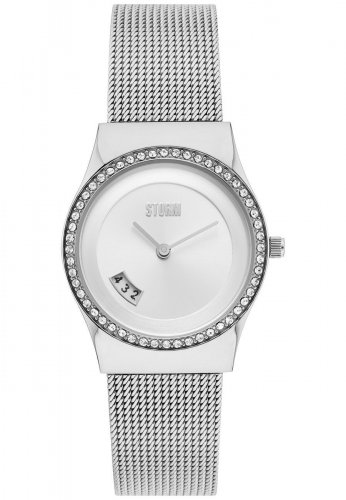 Storm - Cyro, Crystals Set, Stainless Steel Silver Watch