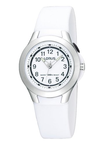 Lorus - Kids, White Silicone Strap Sports Watch