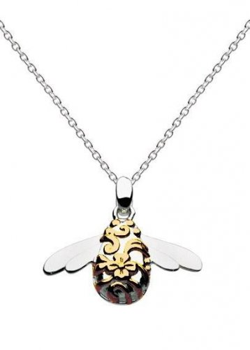 Kit Heath - Ladies Blossom Bumblebee, Silver Necklace