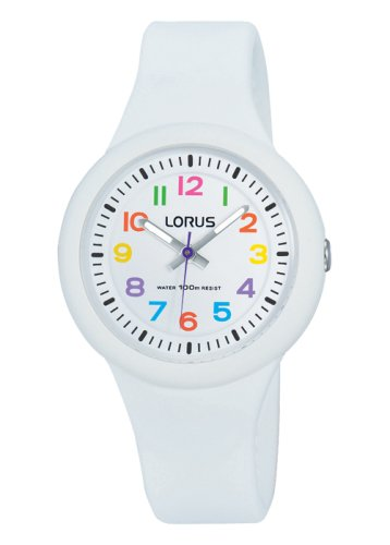 Lorus - Kids, White Soft Silicone Strap Watch