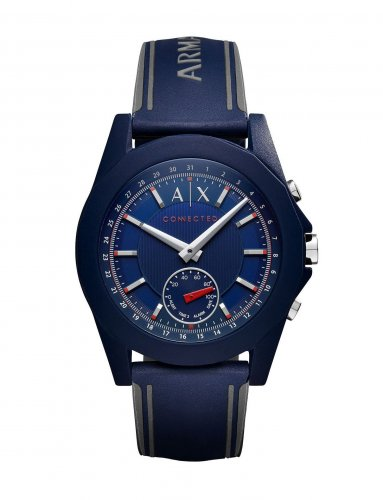 Armani Exchange - Connected, Blue Silicone Hybrid Smart Watch