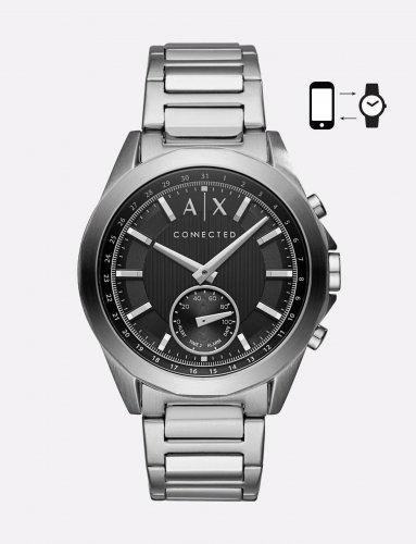 Armani Exchange - Silver Tone Hybrid Bracelet Watch