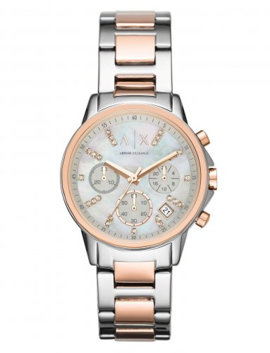 Armani Exchange - Stainless Steel and Rose Gold PVD Plate Two Tone Chronograph Watch
