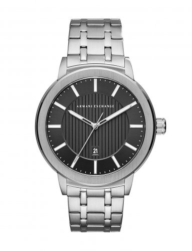 Armani Exchange - Minimal Pinstripe Bracelet Watch