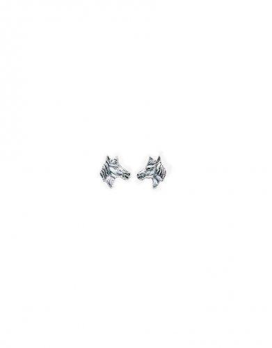 Gecko - Beginnings, Silver Horsehead Earrings