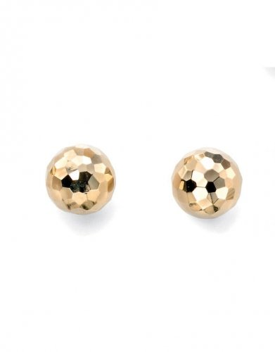 Gecko - Elements. 9ct Yellow Gold Textured Ball Stud Earrings