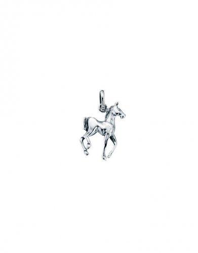 Gecko - Beginnings, Silver Prancing Horse Pendant