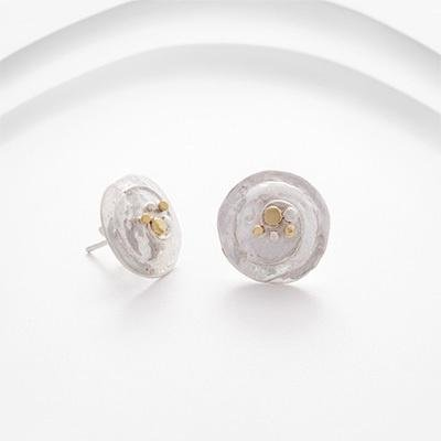 Banyan - Silver and Brass Circles Earrings