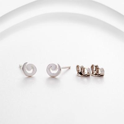 Banyan - Sterling Silver Spiral Stud Earrings